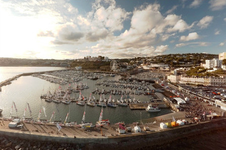 Torquay Harbour played host to the 2015 La Solitare du Figaro yacht race
