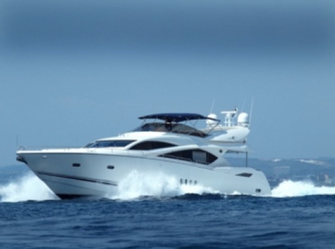 """The 82 Yacht """"ALCATRES"""" is now bound for Southampton having previously been navigated in the South of France"""