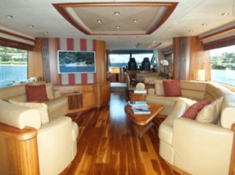 The Sunseeker 82 Yacht is a hugely popular flybridge model