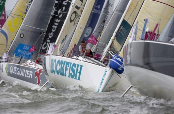 Local sailor Henry Bomby, sponsored by RockFish and Seahorse, pictured competing in the race