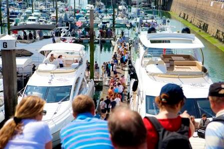 Visitors to the Jersey Boat Show last year flocked to the ever-popular Sunseeker stand