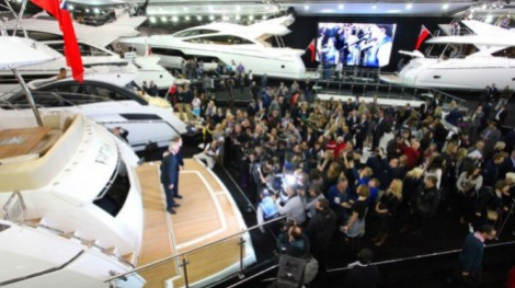 The Sunseeker stand at the London Boat Show 2014
