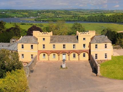The beautiful Pentillie Estate, where Sunseeker Torquay hosted their Devon High Bird simulated game clay pigeon shoot