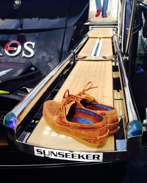 """Chatham, recently awarded best Outdoor Brand of the Year, produce fantastic boating shoes! This pair were deck tested onboard the Sunseeker Predator 60 """"KAOS"""" in Mallorca"""