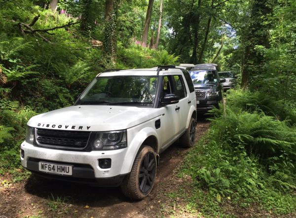 Guests were chauffeured around the estate in a fleet of Land Rover vehicles