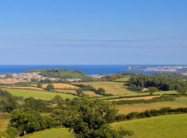 The stunning views from The Arboretum development near Totnes, Devon