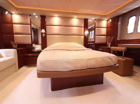 """The Princess V70 """"COCO"""" offers 3 Cabins, each ensuite and a Crew Cabin for 2"""