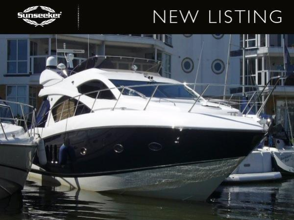 """The Sunseeker Manhattan 52 """"STILL WATERS"""" has been listed by Sunseeker Poole, asking £485,000 VAT paid"""