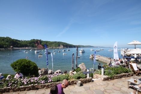 View from the Inn: The Cary Arms occupies a stunning waterside location and is renowned for its excellent food and drink
