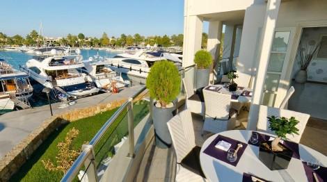 Sani Marina, part of the luxurious Sani Resort, is a private luxury marina along the peninsula of Kassandra