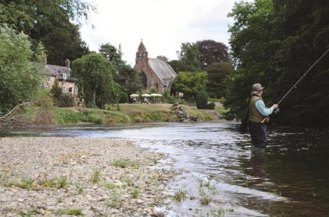 The banks of the River Dee represent undisturbed countryside at its best