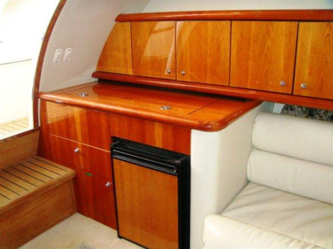 Boasting a spotless interior and furnishings, this Superhawk 40 is in excellent condition