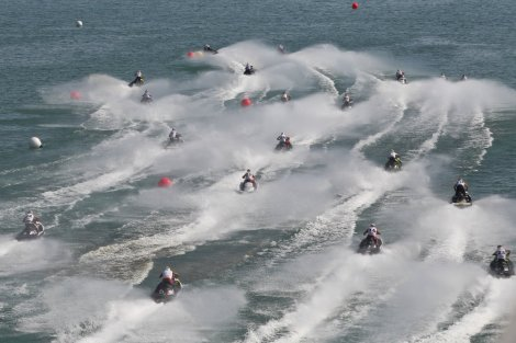 The aqua bike championships will take place in Ibiza in addition to the Class-1 powerboat competition