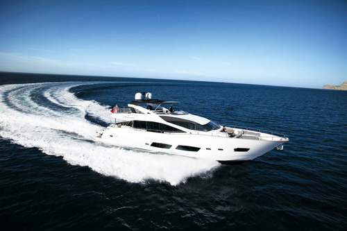 "The Sunseeker 28 Metre Yacht ""AUTUMN"" is the largest ever Sunseeker yacht to appear at the Palma show"