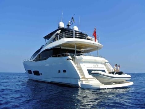 An award-winning semi custom yacht, the Sunseeker 28 Metre is a popular choice for Med cruising