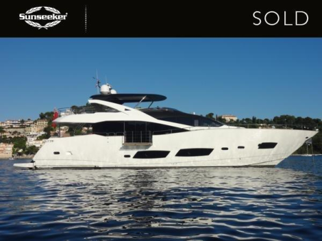 "The Sunseeker 28 Metre Yacht ""NO 9"" has been sold by Sunseeker London"