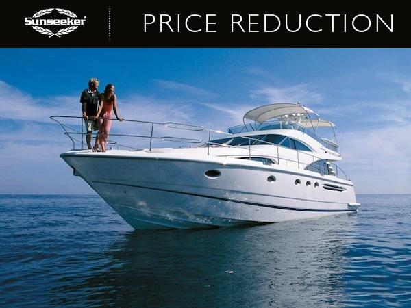 """Sunseeker Southampton have announced a price reduction of the Fairline Squadron 58 """"CHILDSPLAY"""""""