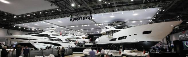 A staggering 868ft (264.5m) of Sunseekers were on display in the London ExCeL