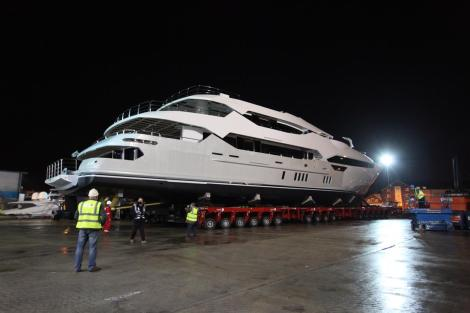 The tri-deck Sunseeker, now the flagship of the range, is a true British superyacht