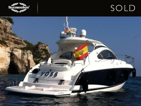 "Sunseeker Mallorca have confirmed the sale, completion and delivery of the 2007 Sunseeker Portofino 47 ""VOSS"""