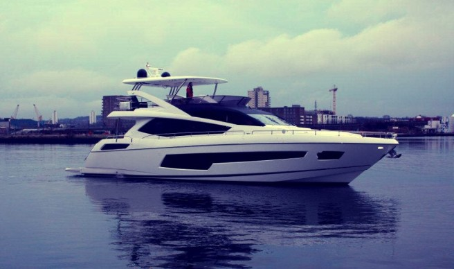 The new Sunseeker 75 Yacht made her World Debut at London Boat Show 2014