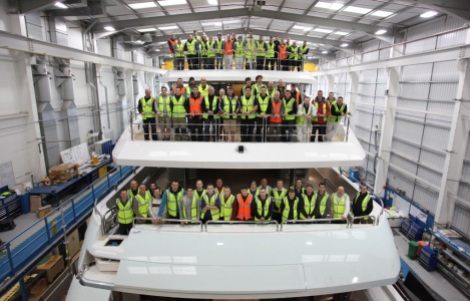That's teamwork: The Sunseeker team have worked on this build for the past 2 years, making this a truly momentous occasion