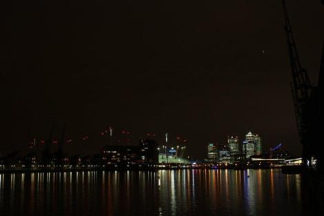 Canary Wharf was just a stone's throw away from the Sunseeker owner's launch party