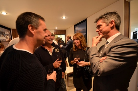 Sunseeker Mallorca's Teddy Torkington welcoming clients to the VIP reception