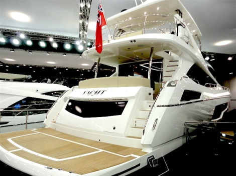 Quick step: The Sunseeker 75  Yacht  enticed visitors aboard at the London Boat Show