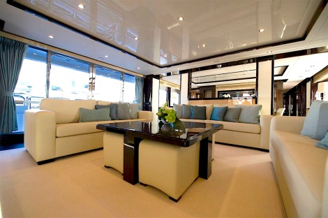 "The ""complete custom interior"" by Sunseeker International defines the 40 Metre Yacht ""SEA RAIDER V"""
