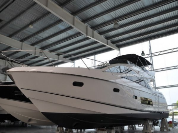 This Sunseeker Manhattan 53, pictured here at the Sunseeker Spain facility in Empuriabrava, has been sold by Sunseeker Mallorca