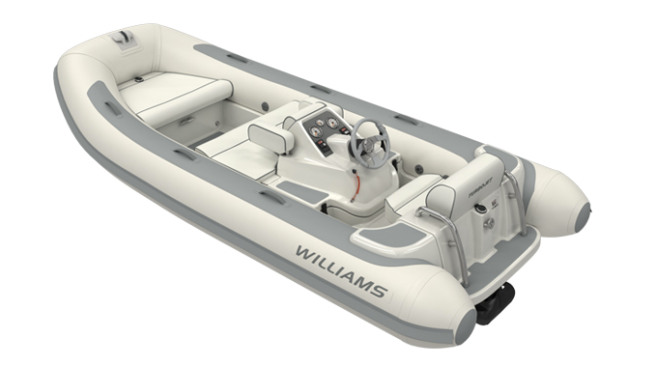 Williams Tenders, such as the Turbojet 385 pictured here, prove a popular choice amongst Sunseeker London clients