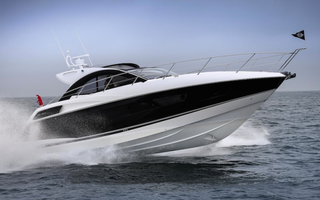"""The Sunseeker San Remo won the """"best sportscruiser over 45ft"""" category at the Motor Boat Awards 2014"""