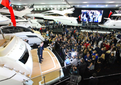 """Sunseeker London Group, the leading distributor for the Sunseeker product, experienced one of the """"best ever"""" London Boat Shows in 2014"""