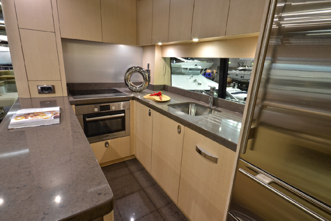 The sociable galley-up option also creates more accommodation space on the Lower Deck
