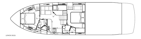 Interior Layout: Sunseeker Predator 57