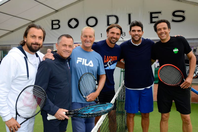 The Boodles Classique tennis tournament at The Mere treated guests to a fantastic array of matches between sporting legends