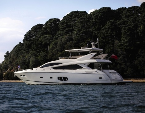 A Sunseeker 80 Yacht was sold at London Boat Show by Sunseeker Cannes