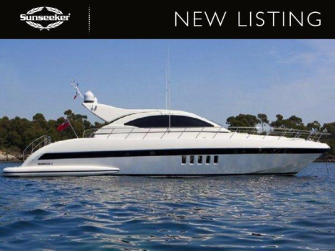 """Sunseeker London has listed the Mangusta 72 Open """"OUTSIDE EDGE IV"""" at €775,000 ex Tax"""