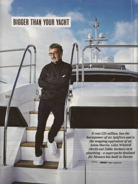 The Times Magazine produced a piece dedicated to the launch of the Sunseeker 155 Yacht