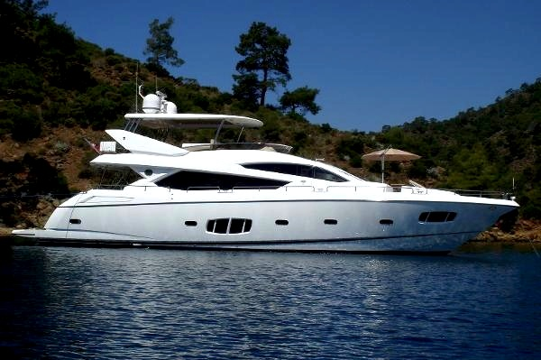 "Sunseeker 80 Yacht ""ABBY GRACE"" will be on display at the Istanbul Boat Show"