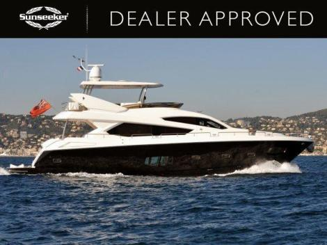 """LADY LAURA OF LONDON"" a stunning Sunseeker 80 Yacht, will be on display at the Sunseeker Yacht Show"
