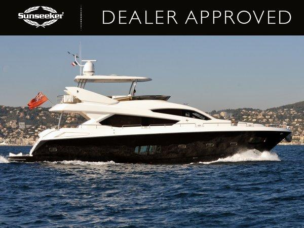 """""""LADY LAURA OF LONDON"""" a stunning Sunseeker 80 Yacht, will be on display at the Sunseeker Yacht Show"""