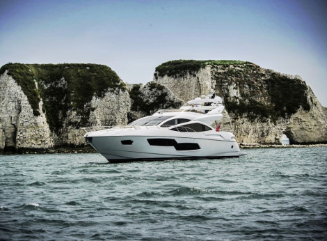 The Sunseeker 80 Sport Yacht will be one of the largest vessels on display at the Jersey Boat Show from 3rd-5th May