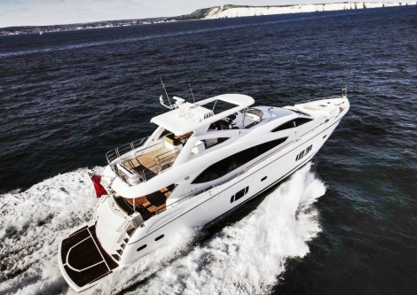 The Sunseeker 88 Yacht is also a popular model amongst client searches this spring