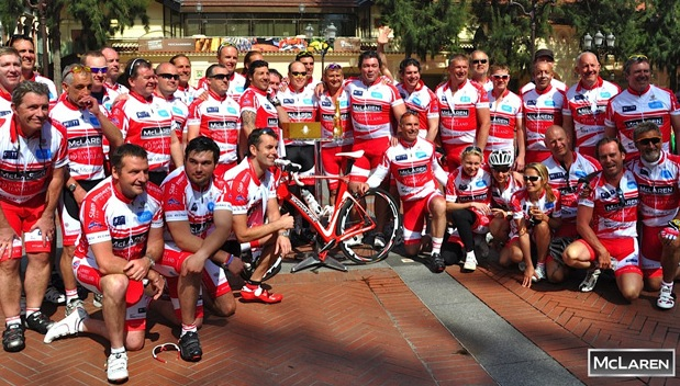 The McLaren Group are key sponsors to the annual St Tropez to Monaco Bike Ride