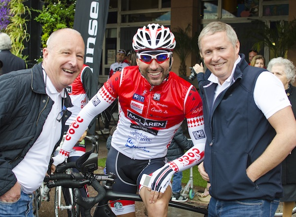 Director Nigel Bristow and Group Sales Director Christopher Head were supporting Sunseeker friends and clients at the St Tropez-Monaco bike ride