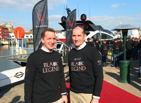 Sunseeker International's Sales Manager Mark Chinery (L) and Interior Design Manager Stuart Jones (R) have worked on Project Black Legend since its inception