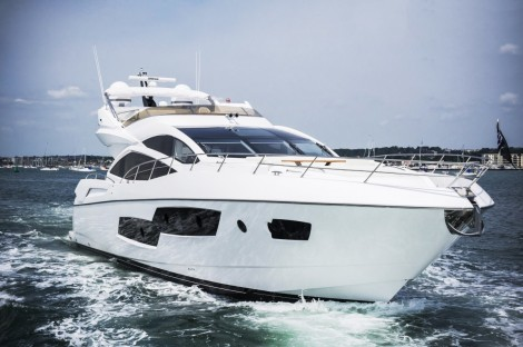 The Sunseeker 80 Sport Yacht will be on display at the Swanwick Easter Boat Show from 18th-21st April