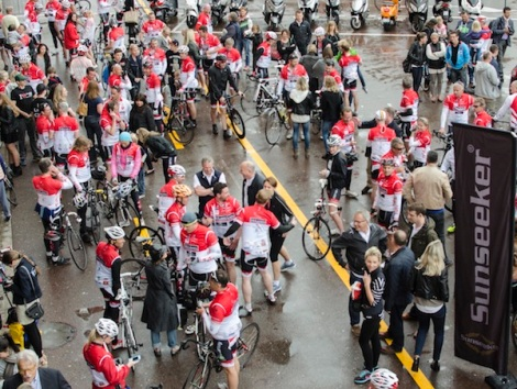 140 riders took part in the 3rd annual St Tropez to Monaco bike ride, which took place on April 27th